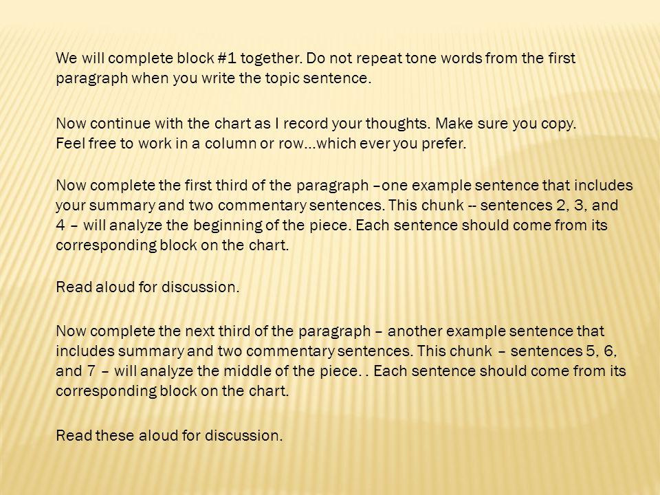 how to write a 5 sentence summary