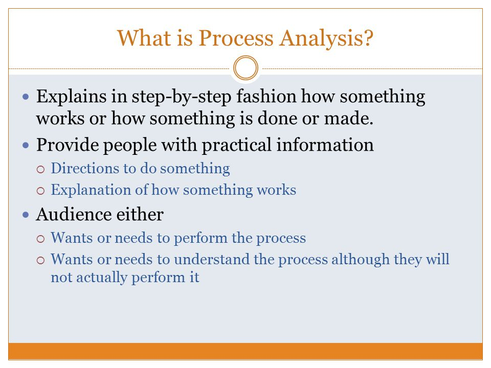 Process Analysis Essay - ppt video online download