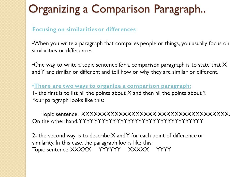 what are two ways to help organize sentences