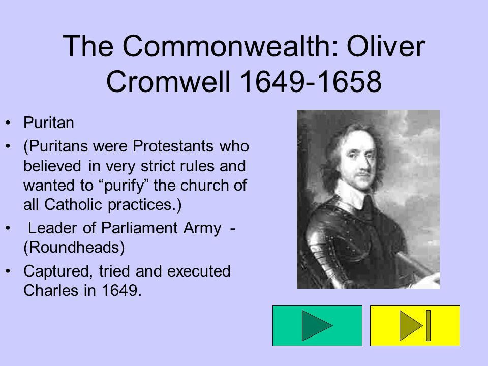 The Commonwealth: Oliver Cromwell