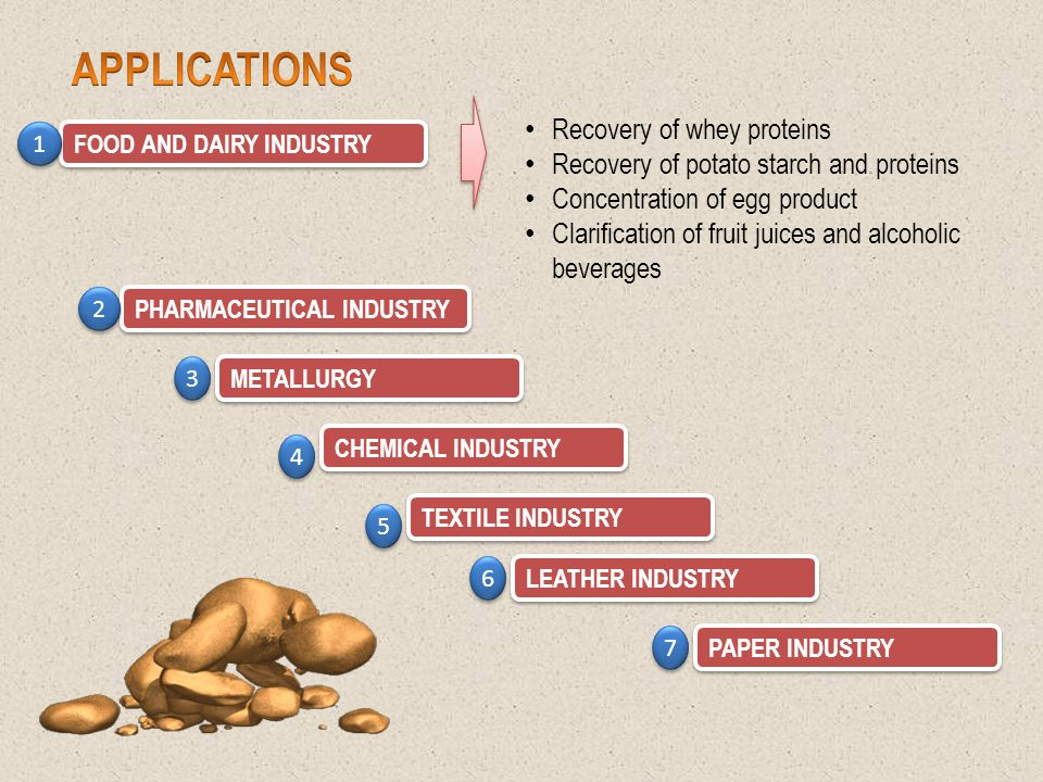 APPLICATIONS Recovery of whey proteins