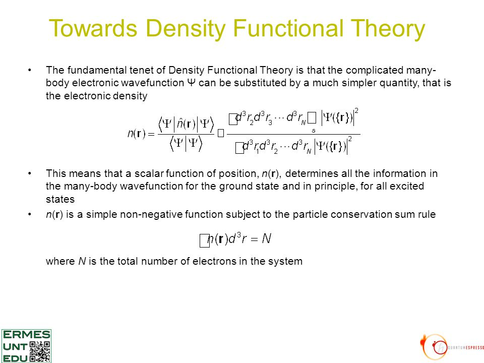 Density Functional Theory An introduction - ppt download