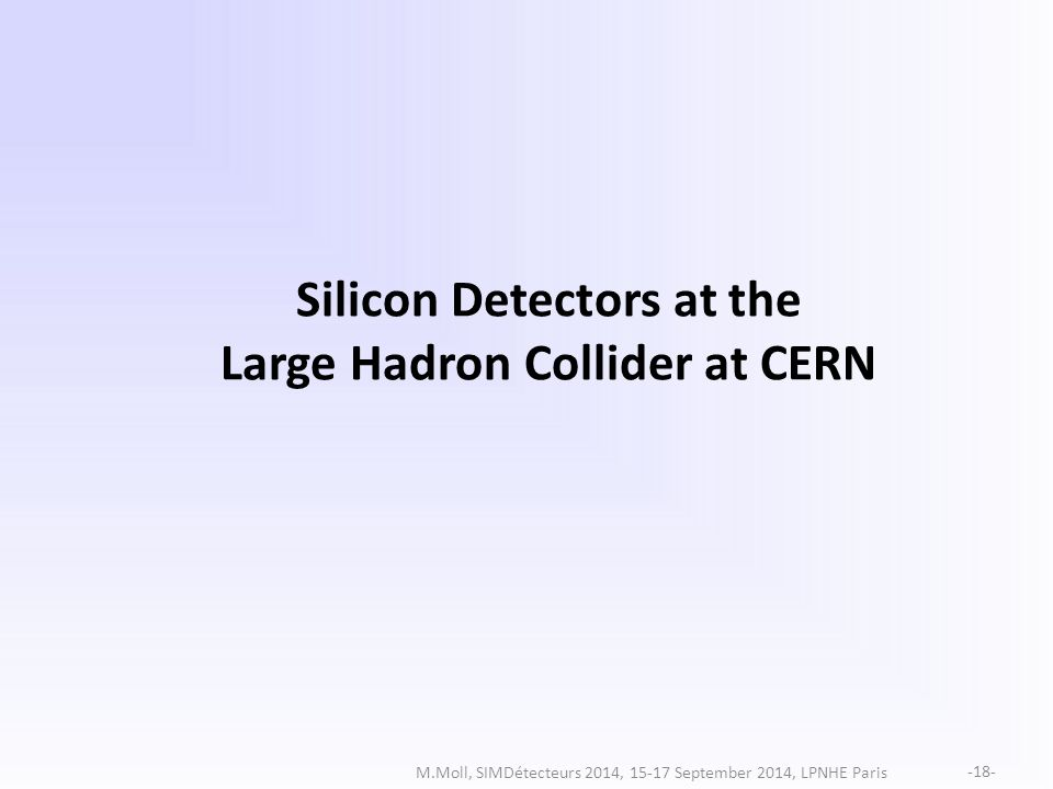 Silicon Detectors at the Large Hadron Collider at CERN