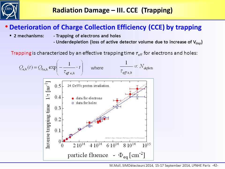 Radiation Damage – III. CCE (Trapping)