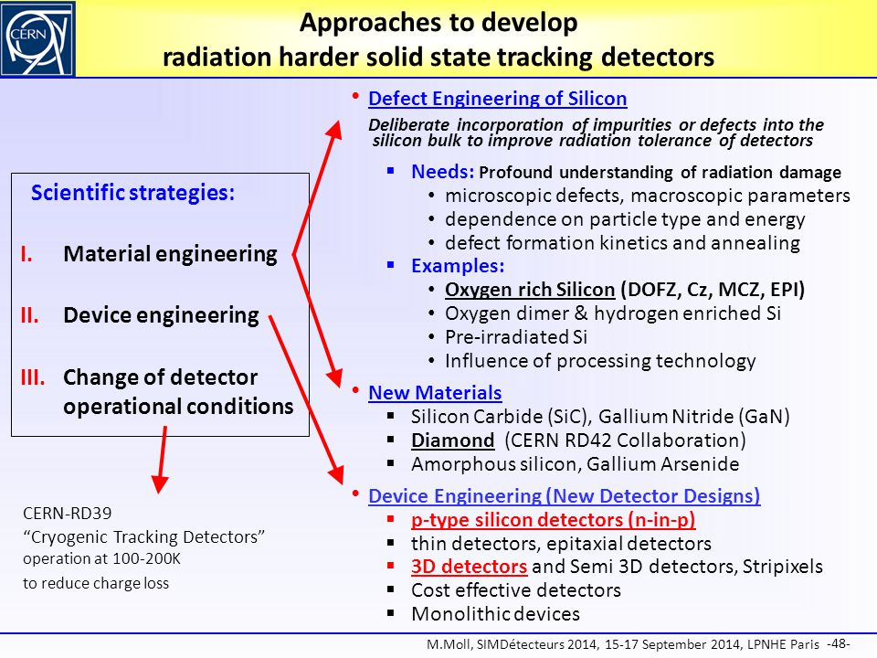 Approaches to develop radiation harder solid state tracking detectors