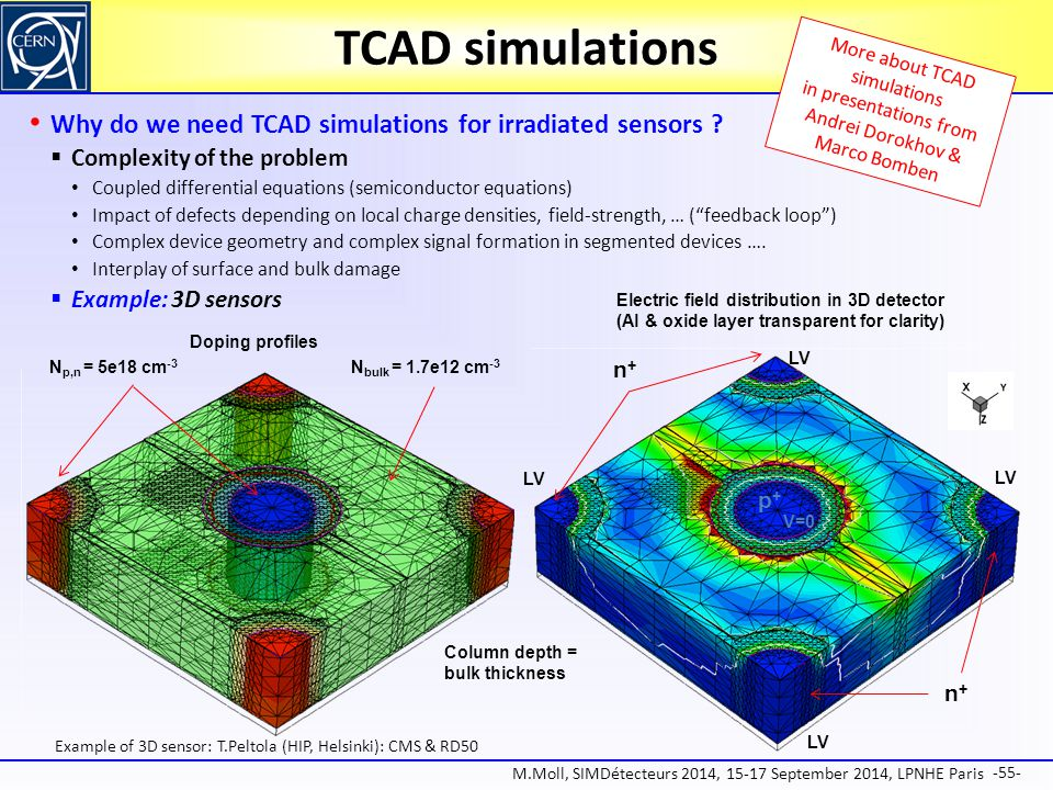 TCAD simulations More about TCAD simulations in presentations from Andrei Dorokhov & Marco Bomben.