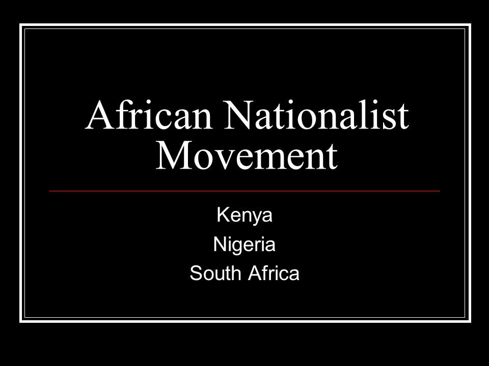 African Nationalist Movement