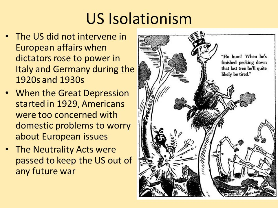 isolationism intervention and imperialism essay Since world war i, us policy has been split between isolationism and internationalism from debates over joining the league of nations to intervention in europe, americans have found odd comfort in siding with one of these two camps the isolationists wanted to avoid being mired in foreign intrigues.