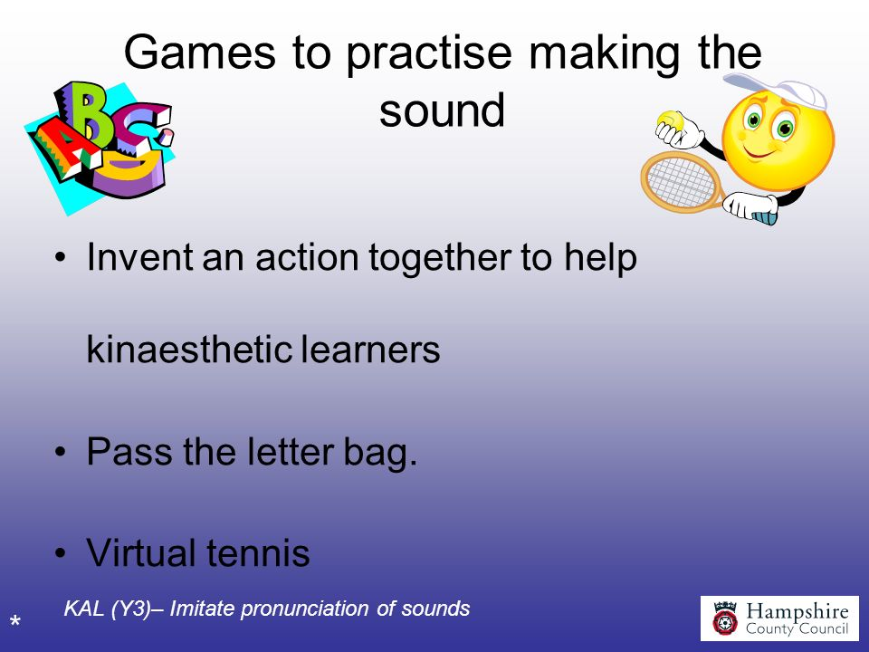Games to practise making the sound
