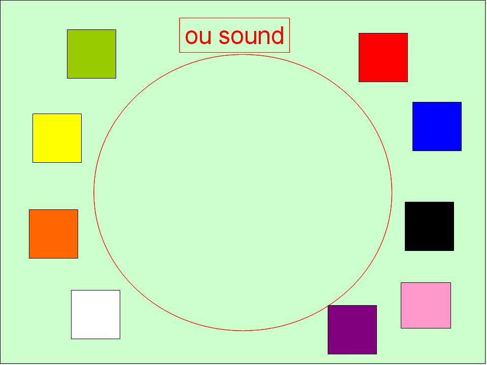 Sort into different hoops in PE perhaps or corners around the classroom. Only one has 'ou' – rouge!