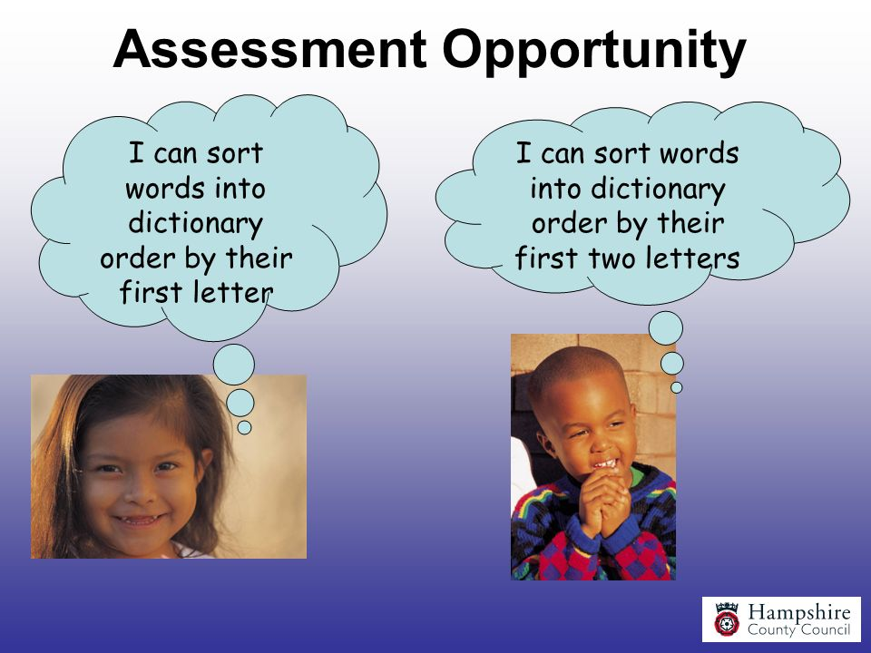 Assessment Opportunity