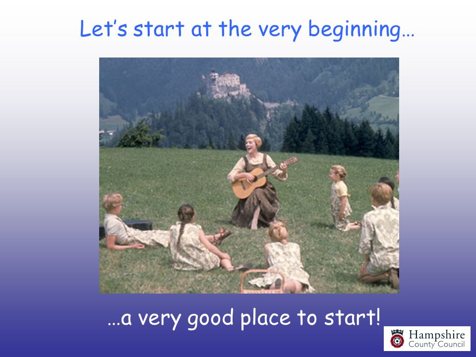 Let's start at the very beginning…