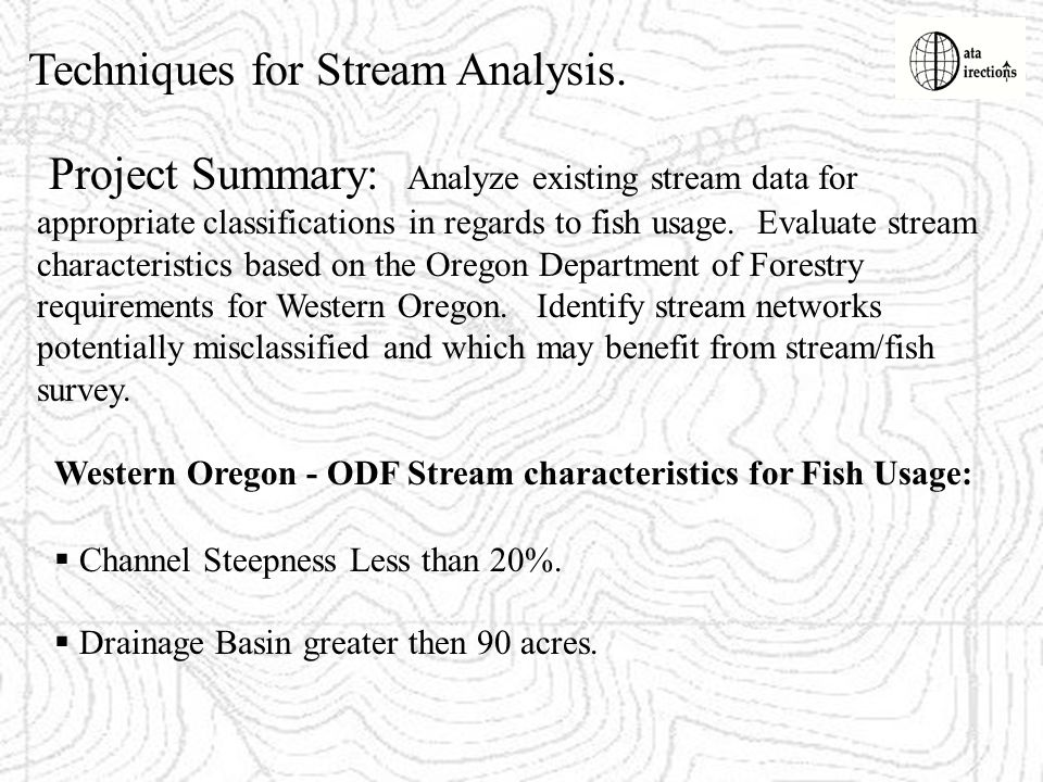 Techniques for Stream Analysis.