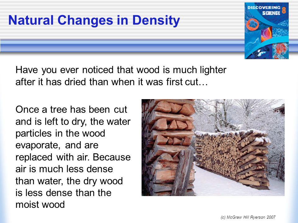 Natural Changes in Density