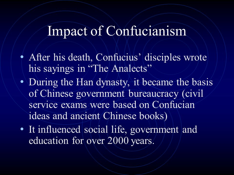 Impact of Confucianism