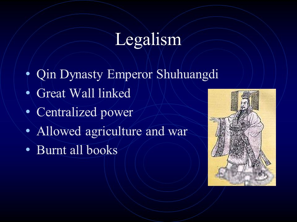 Legalism Qin Dynasty Emperor Shuhuangdi Great Wall linked