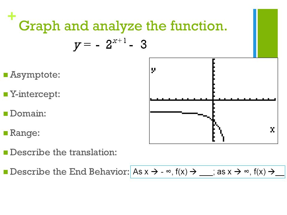 Exponential Growth Functions Ppt Video Online Download. Worksheet. Domain Range And End Behavior 1 1 Worksheet At Clickcart.co