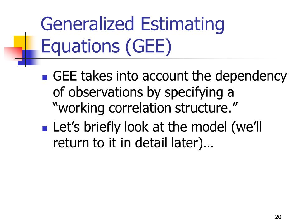 GEE and Mixed Models for longitudinal data - ppt download