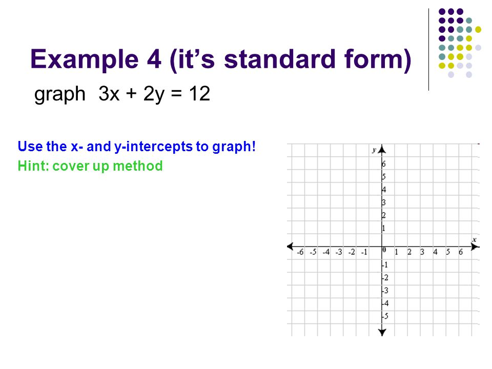 Example 4 (it's standard form)