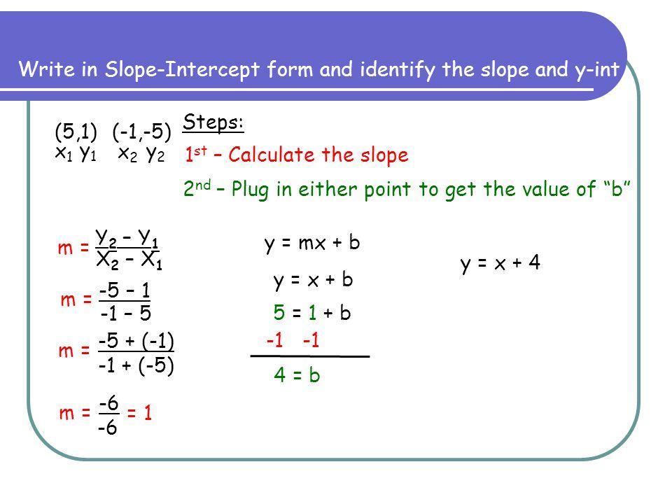 slope intercept form calculator with steps  Notes on Slope-Intercept Form - ppt video online download