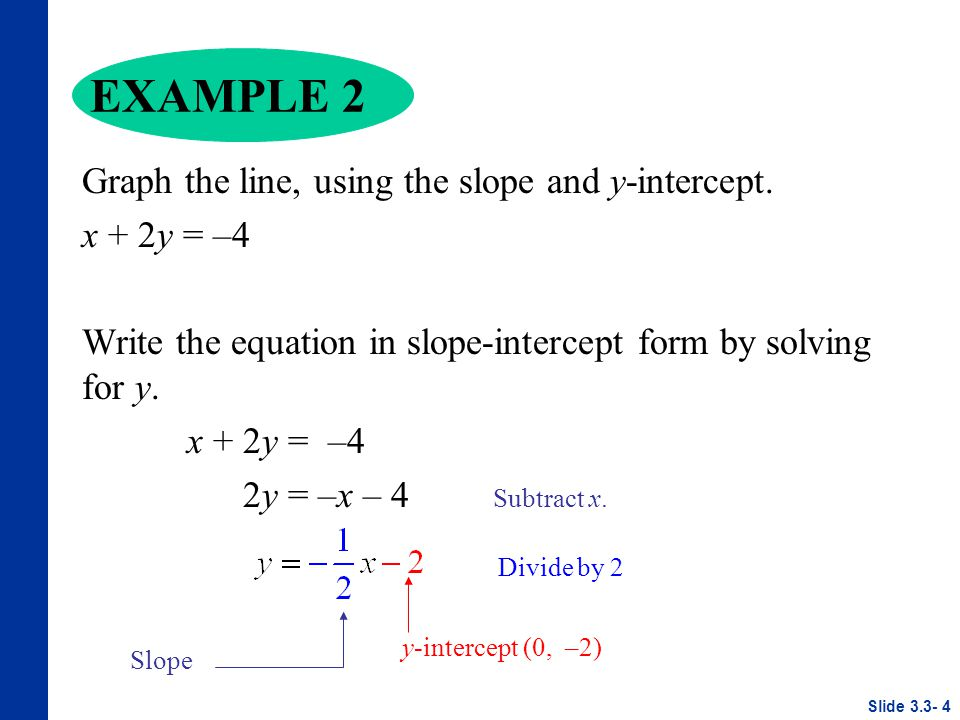slope intercept form variables  Linear Equations in Two Variables - ppt video online download