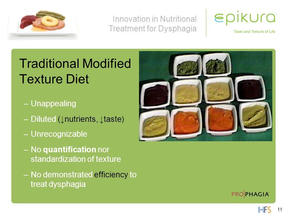 Traditional Modified Texture Diet