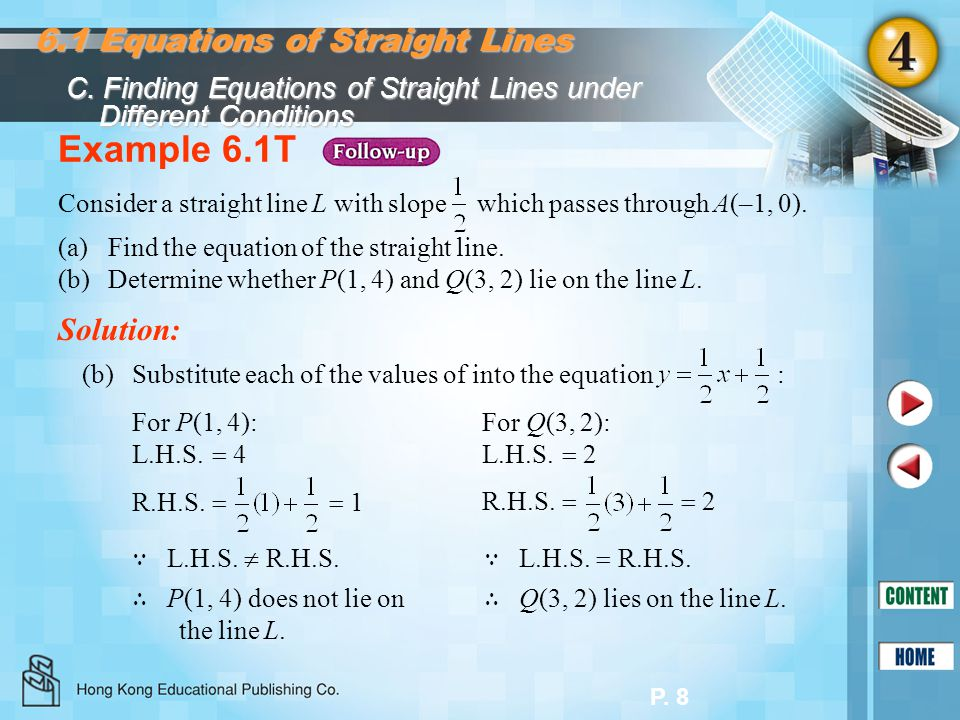 Equations of Straight Lines - ppt download