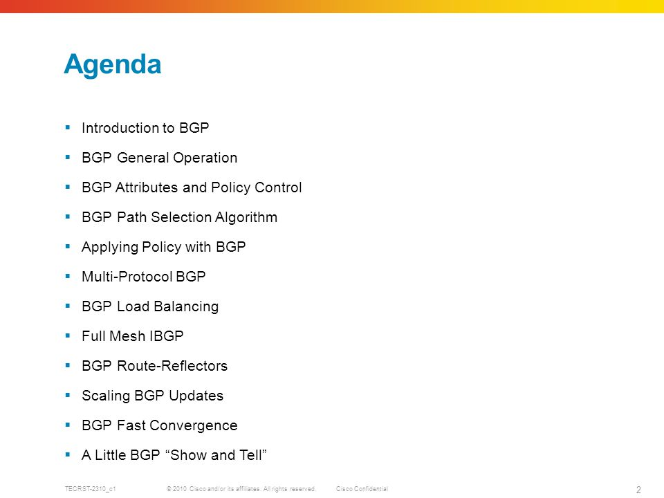 Deployment and Operation of BGP - ppt download