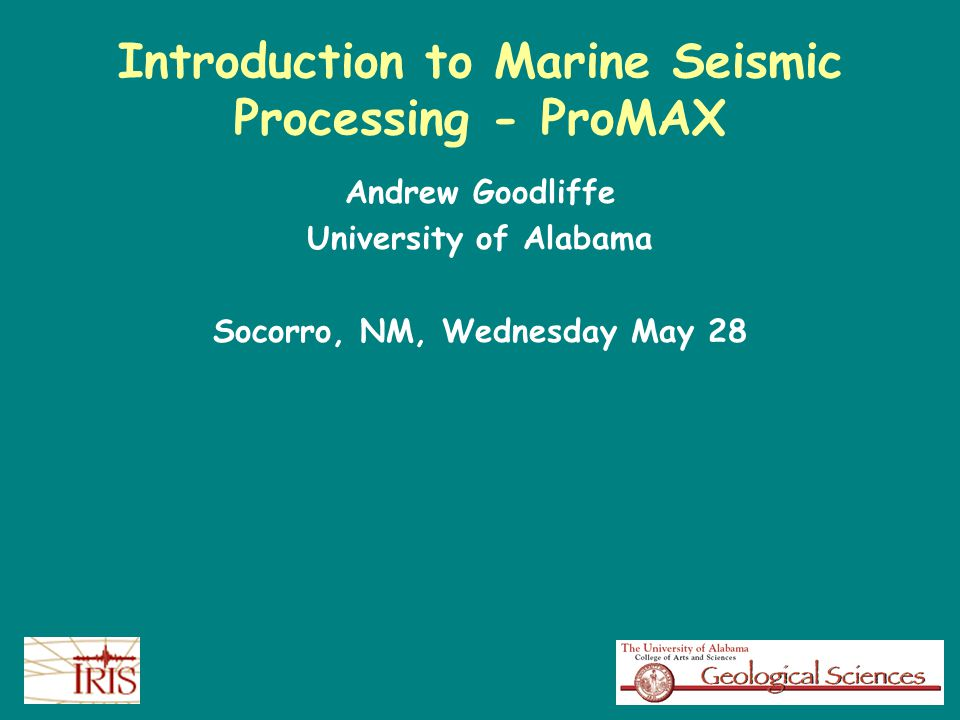 introduction to marine seismic processing promax ppt download rh slideplayer com