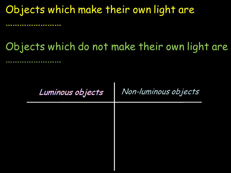 What is the purpose of comparing luminous and non luminous flames