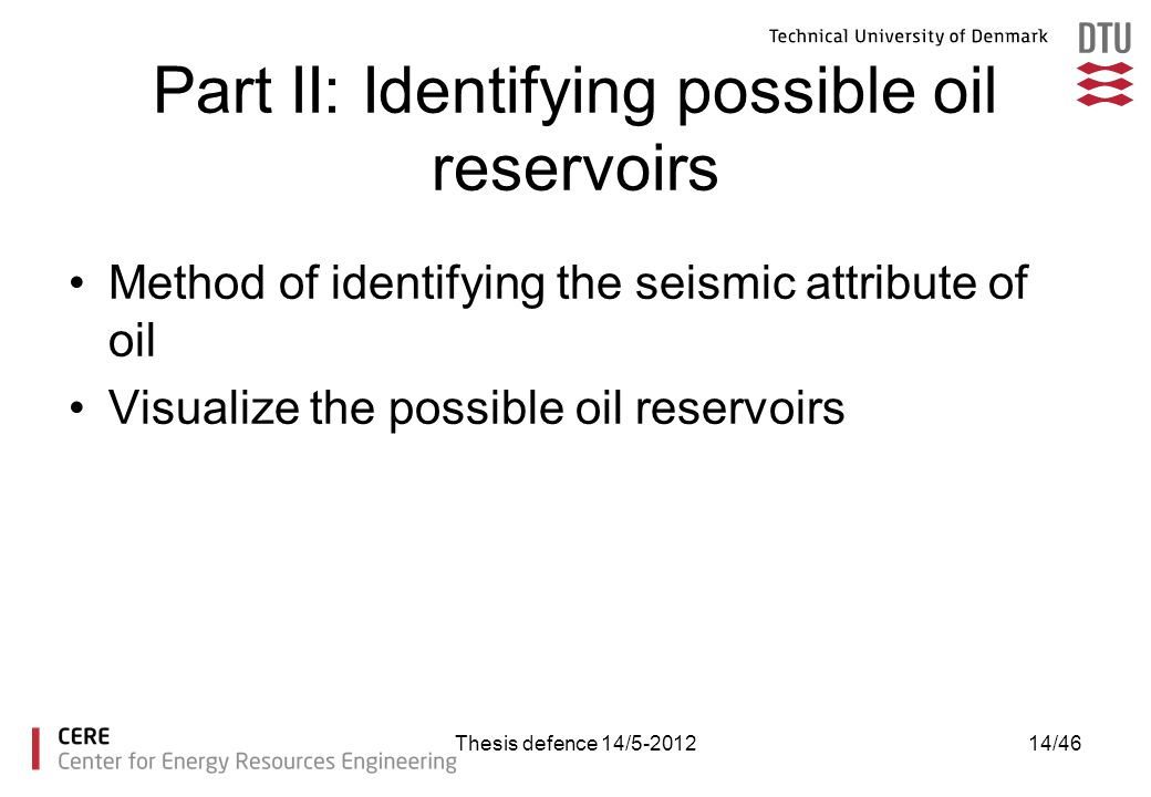 Part II: Identifying possible oil reservoirs