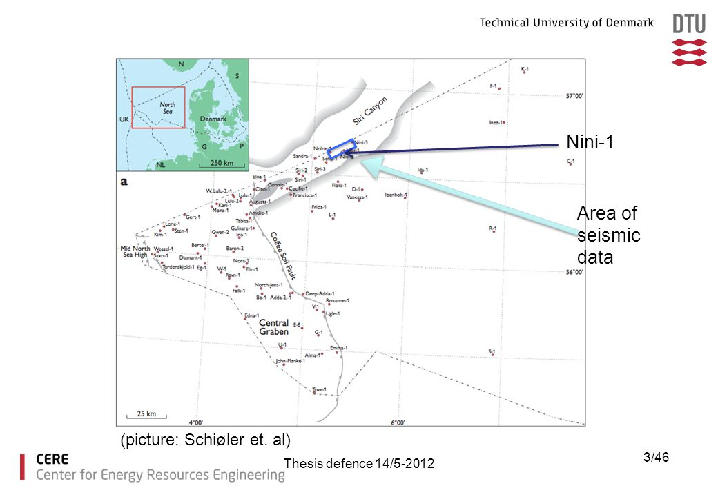 Nini-1 Area of seismic data (picture: Schiøler et. al)