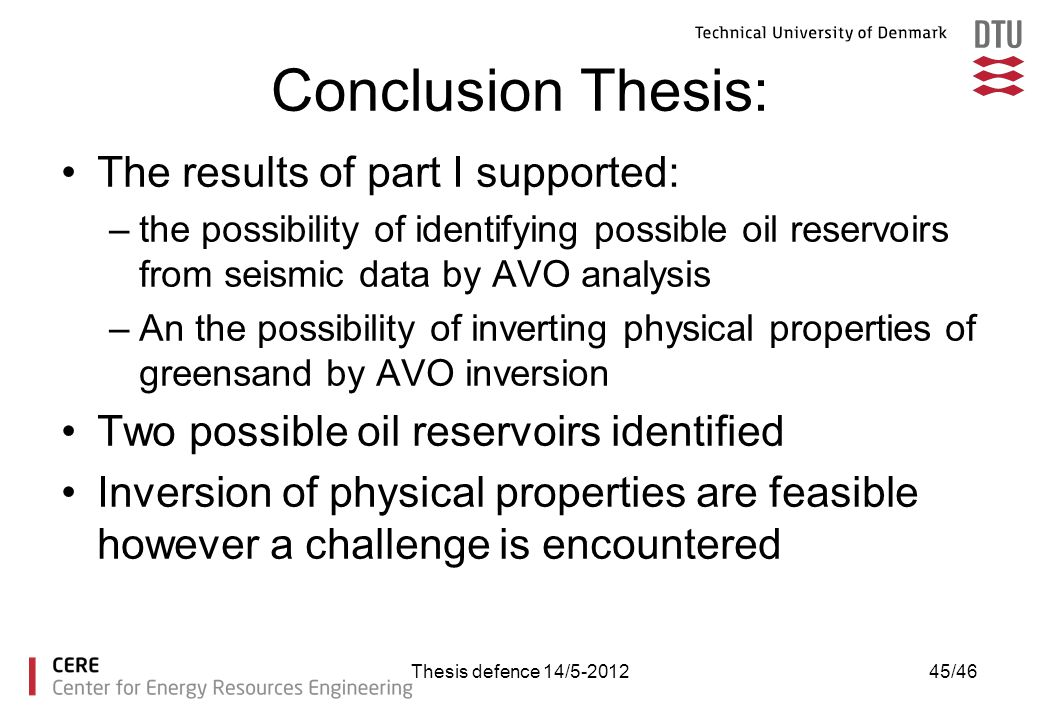 Conclusion Thesis: The results of part I supported:
