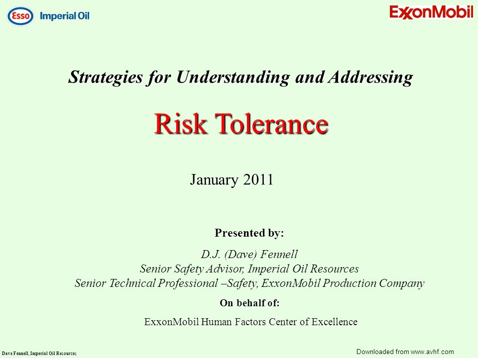 Risk Tolerance Strategies for Understanding and Addressing