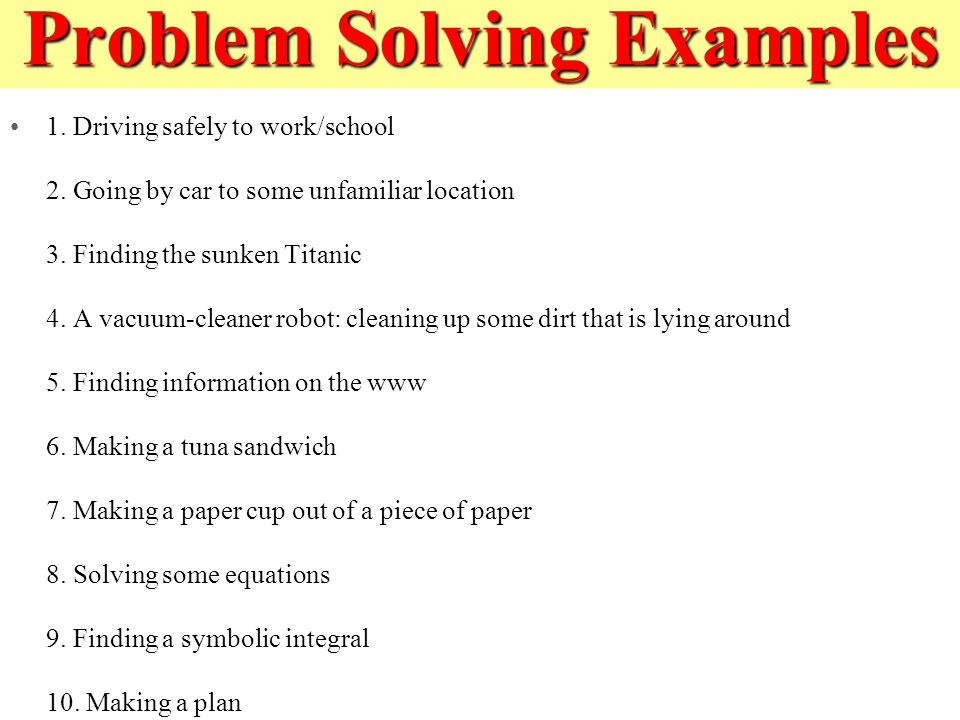 problem solving examples image collections example cover letter