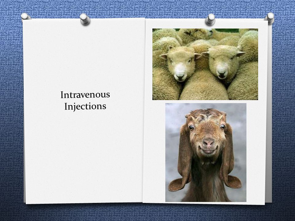 Intravenous Injections