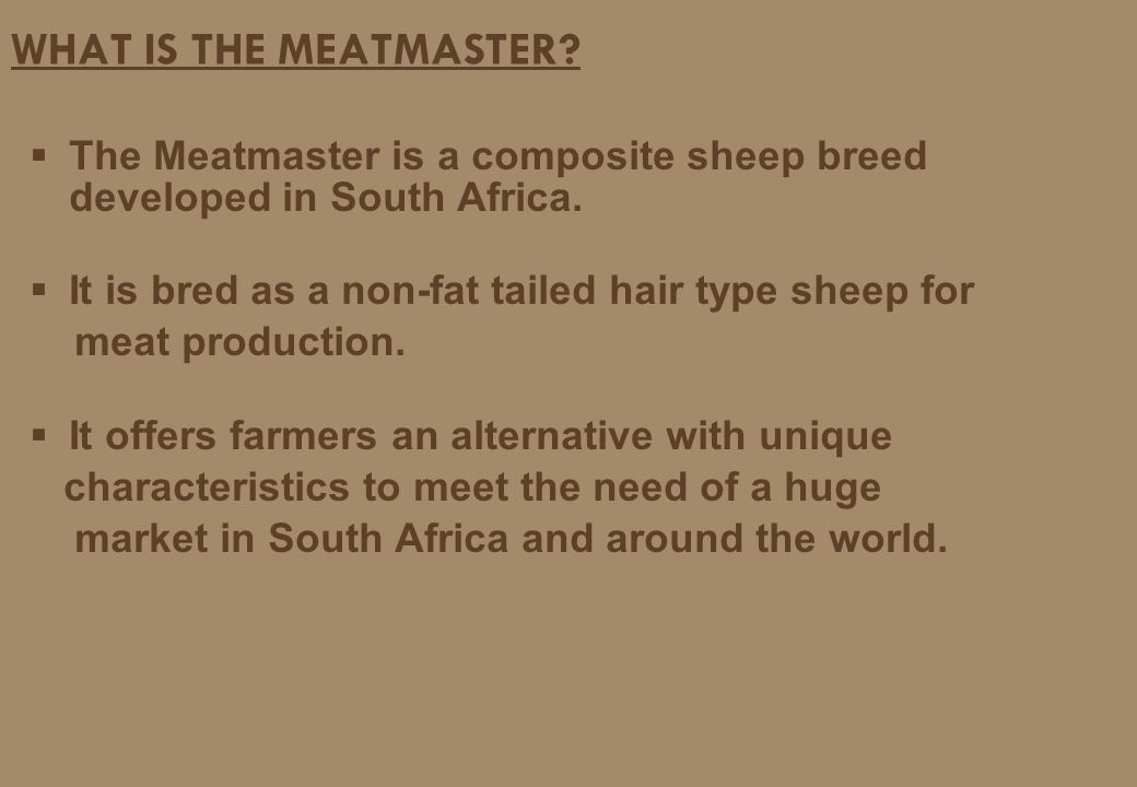 A NEW DAWN FOR SHEEP BREEDERS - ppt video online download