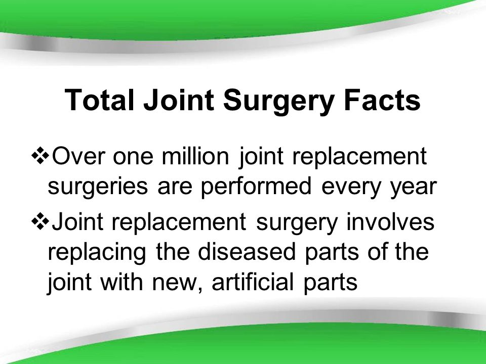 Total Joint Surgery Facts