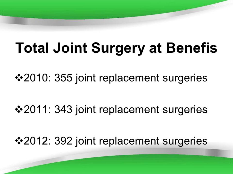 Total Joint Surgery at Benefis