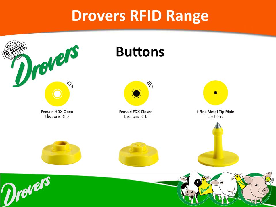 Drovers RFID Range Buttons