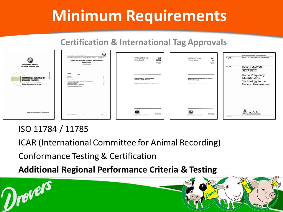 Certification & International Tag Approvals
