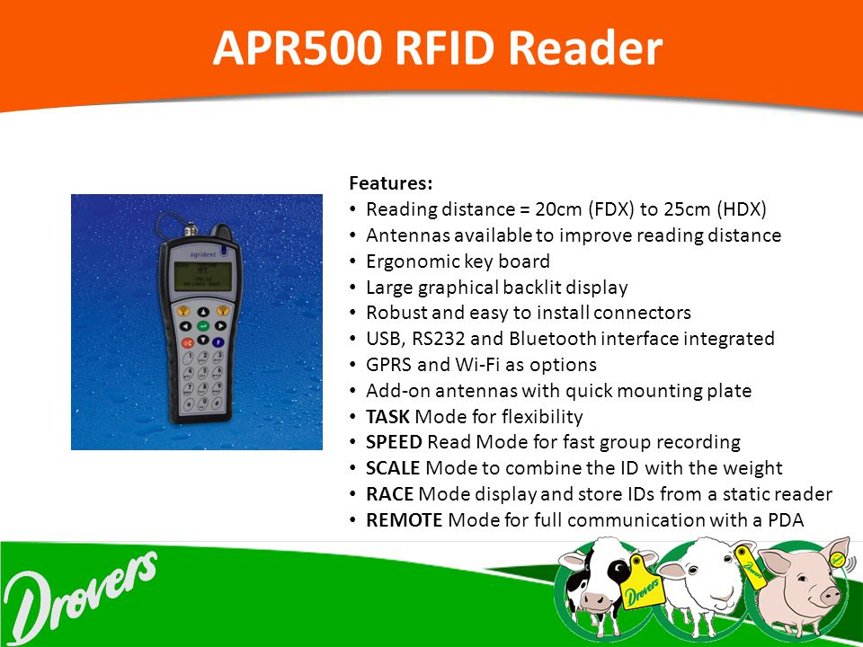 APR500 RFID Reader Features: