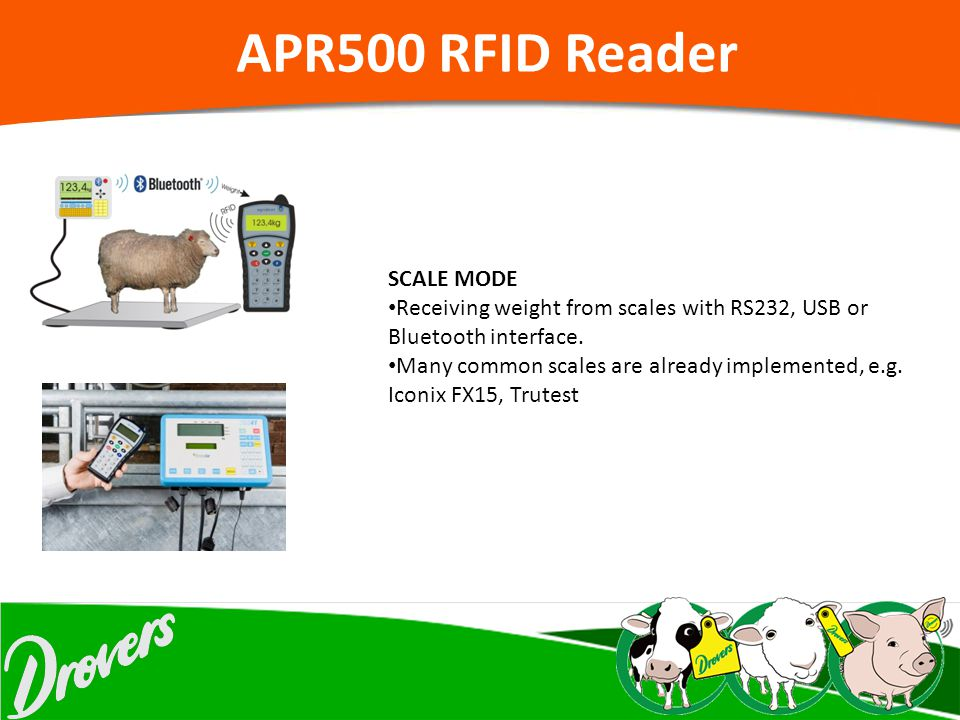 APR500 RFID Reader SCALE MODE