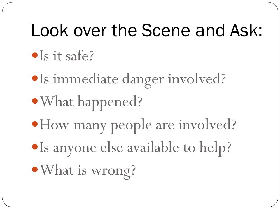 Look over the Scene and Ask: