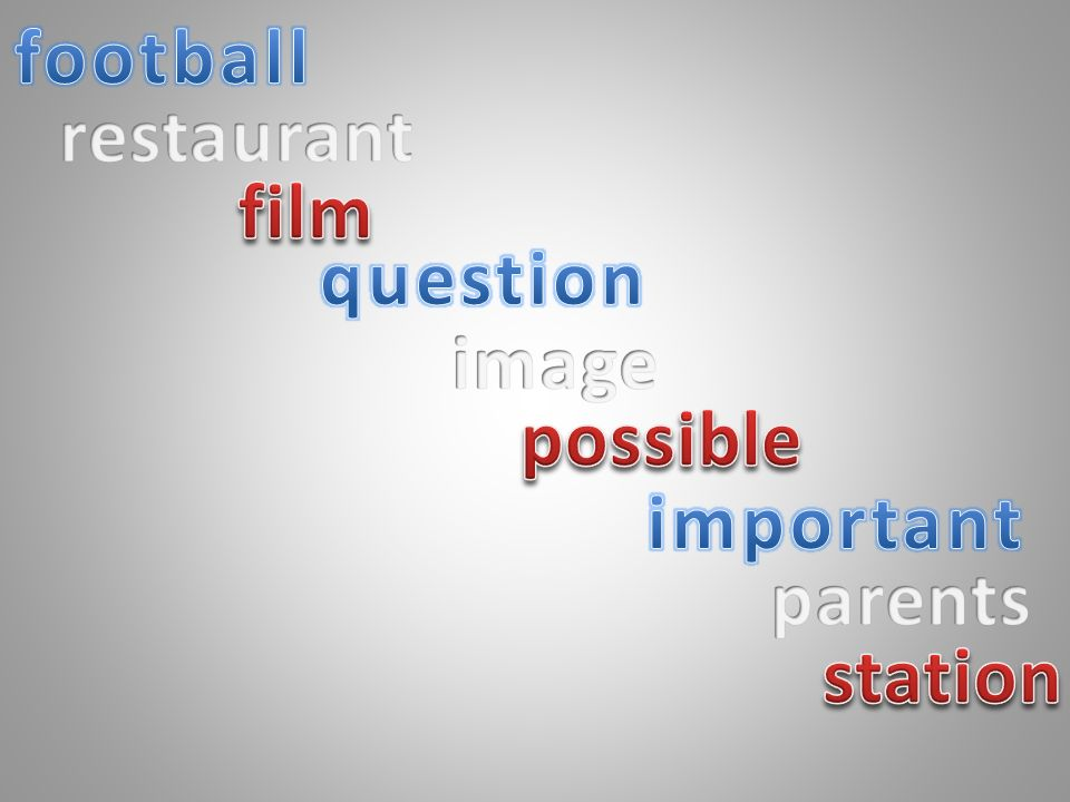 football restaurant film question image possible important parents station