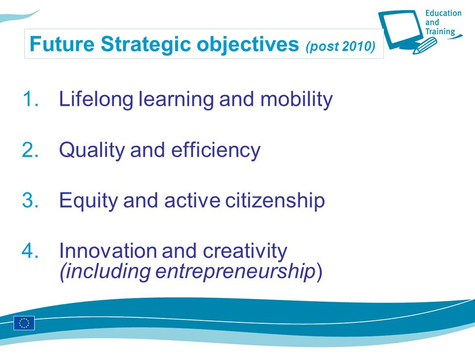 Future Strategic objectives (post 2010)