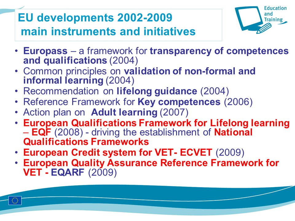 EU developments main instruments and initiatives