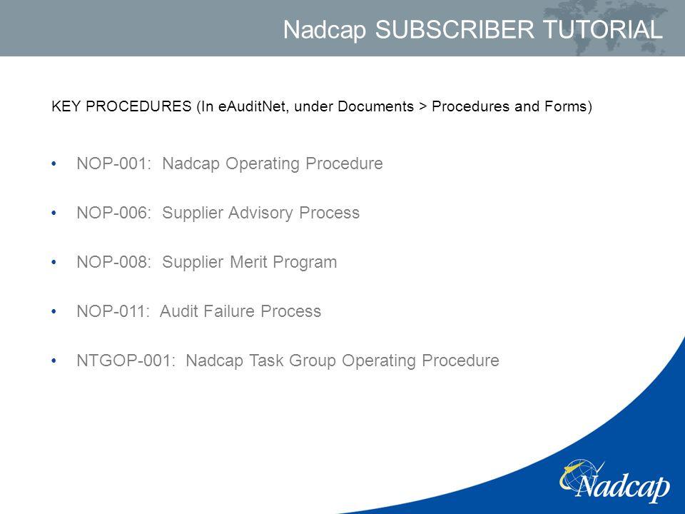 agenda nadcap overview organizational structure of nadcap