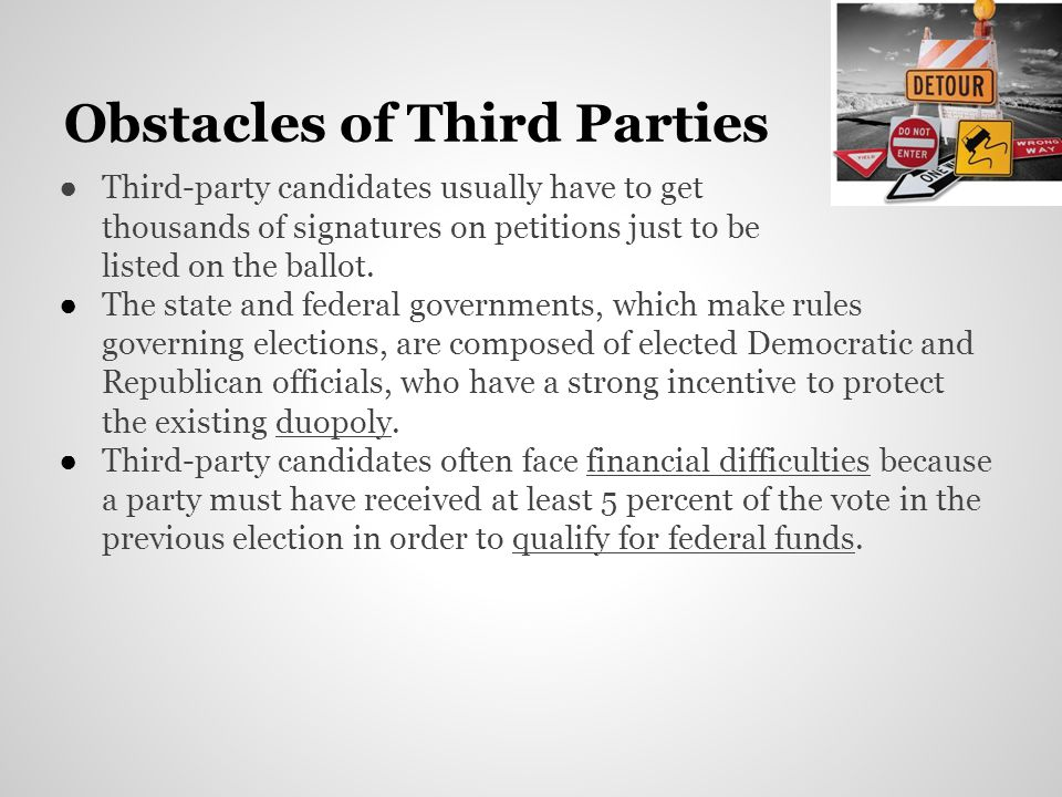 Obstacles of Third Parties