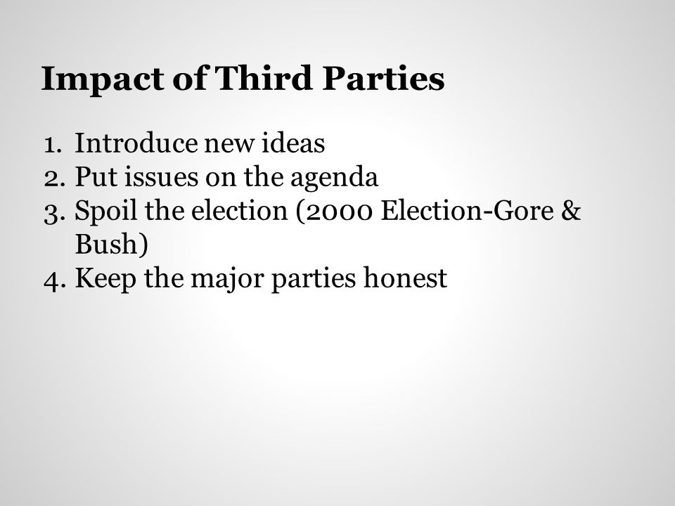 Impact of Third Parties